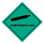 Hazard safety sign - Compressed Gas 002